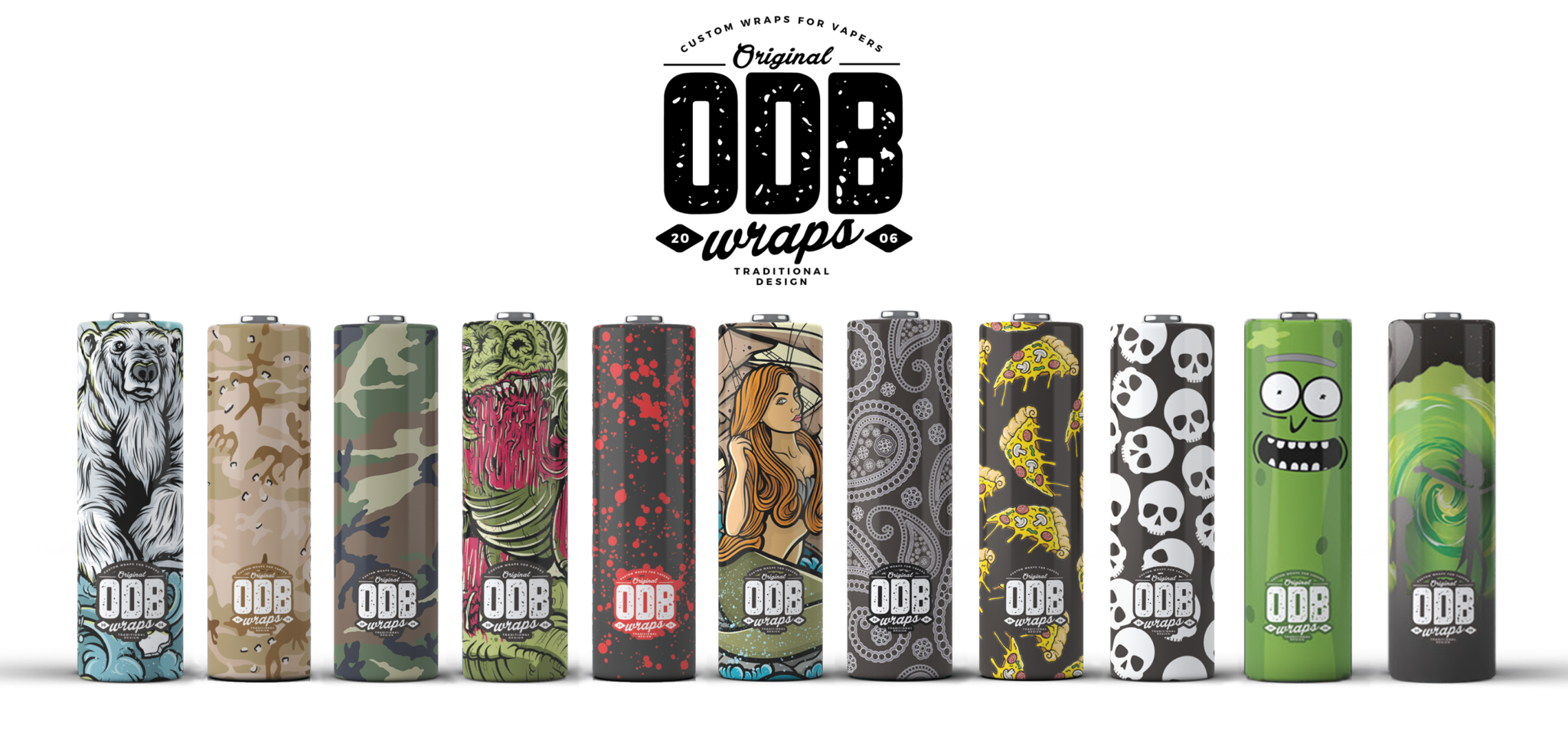 Original Dirty Bastardz/ODB battery wraps (Pack of 4)